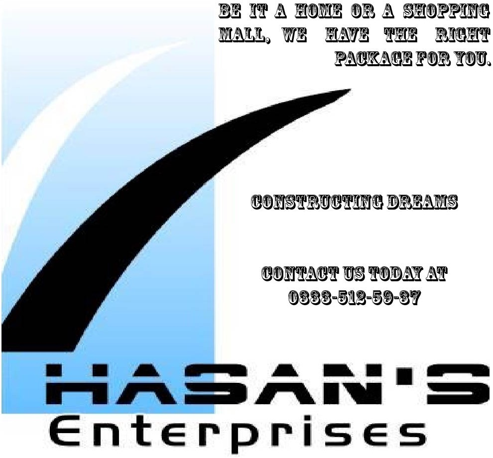 Ad - Hasan's Enterprises (construction company)